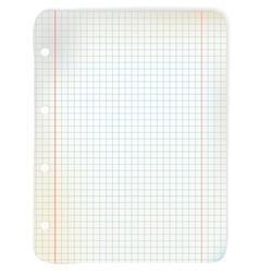 Sheet grid paper vector