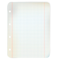 Sheet of grid paper vector