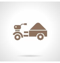 Small farm truck glyph style icon vector image