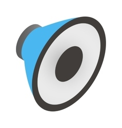 Sound speaker isometric 3d icon vector image