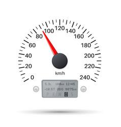 Speedometer scale speed gauge vector