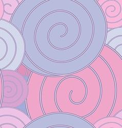 Spiral pastel seamless pattern vector