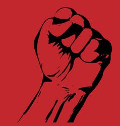 Strike poster with tight fist - protest concept vector