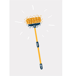 sweep brush tool vector image