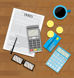 tax financial view top vector image