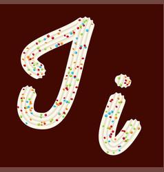 Tempting tipography font design 3d letter i of vector