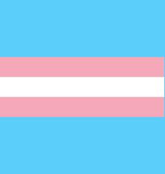 Transgender pride flag symbol lgbt community vector
