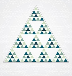 triangle blue pattern vector image