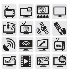TV technology set vector