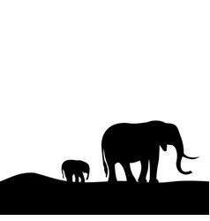 Walking elephants vector