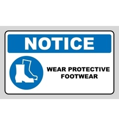 Wear safety footwear Protective safety boots must vector image