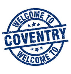 Welcome to coventry blue stamp vector