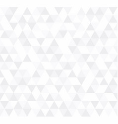 white triangular mosaic abstract seamless pattern vector image