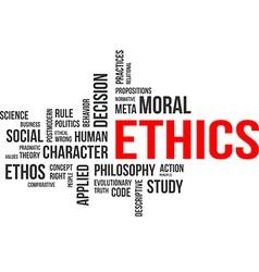 word cloud ethics vector image