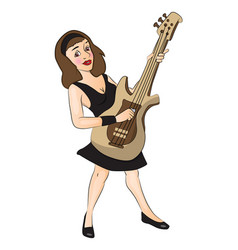young woman playing guitar vector image