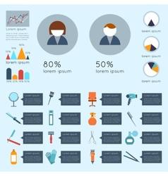 Hairdresser infographic set vector image vector image