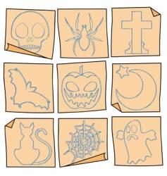 Halloween post-it vector image vector image