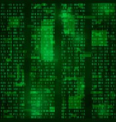 matrix coded bitstreams green background vector image