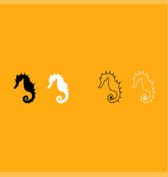 seahorse it is white icon vector image vector image