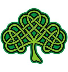 shamrock celtic tattoo vector image