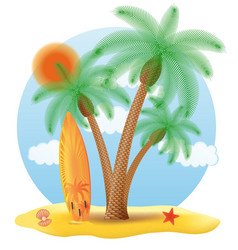 tropical palm tree 06 vector image