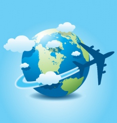 airplane travel vector image