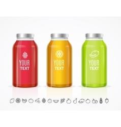 Colorful Juice Bottle Jar Template Set vector image vector image