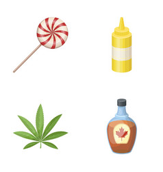 Sweet drug and other web icon in cartoon style vector