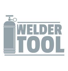 welder tool logo simple gray style vector image