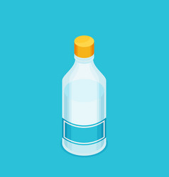 bottle of water icon in flat isometric style vector image