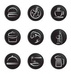 foods icon vector image vector image