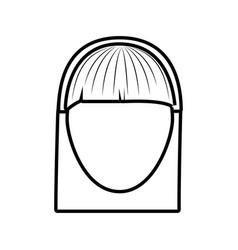 head female girl line vector image
