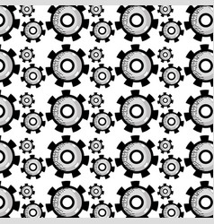 industry gears process to technical engine vector image