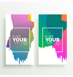 abstract colorful vertical banners design vector image vector image