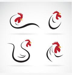 chicken design on white background farm vector image
