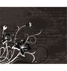 floral with grunge vector image