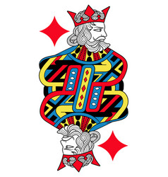 king of diamonds isolated french version vector image vector image