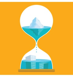 Sand Time Ice vector image vector image