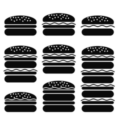 Set of Different Hamburger Icons vector image vector image