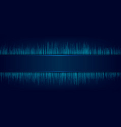 Abstract blue label and laser lighting with vector