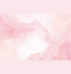 Abstract rose blush liquid watercolor background vector
