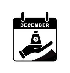 Anti corruption day calendar flat icon with stop vector