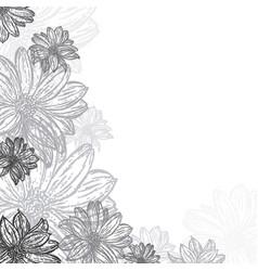 background of flowers vintage vector image