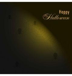Background with spiders and webHappy halloween vector