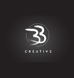 bb brush letter logo design artistic handwritten vector image