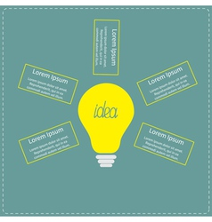 Big yellow light bulb infographic with text Idea c vector