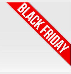 black friday tag ribbon vector image