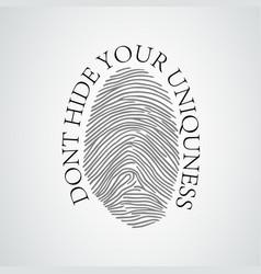 black silhouette fingerprint vector image