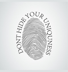 black silhouette of fingerprint vector image
