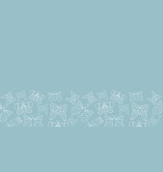 blue and white butterflies border pattern design vector image